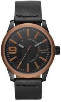 Diesel NSBB Leather-Strap Watch