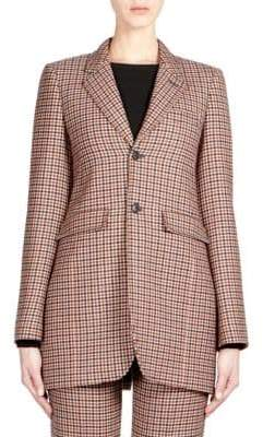 Balenciaga Wool Check Blazer