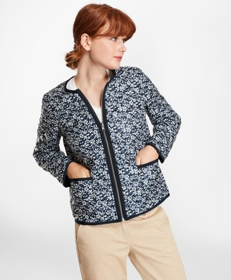 Brooks Brothers Water-Repellent Floral-Print Reversible Quilted Jacket