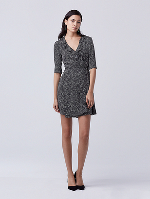 Savilla Silk Wrap Dress $398 thestylecure.com