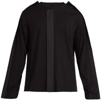 Craig Green Fin Trimmed Long Sleeved Cotton Top - Mens - Black
