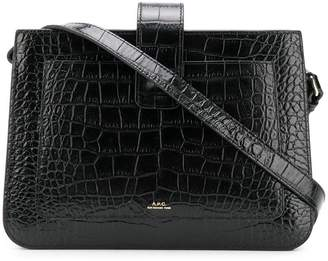 A.P.C. Albana crocodile embossed bag