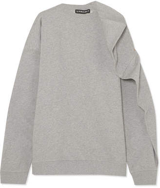 Y/Project Oversized Cotton-terry Sweatshirt - Light gray