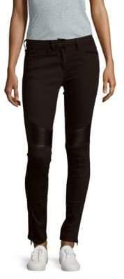 Sandro Zippered Five-Pocket Jeans