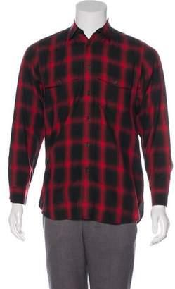 Saint Laurent Plaid Silk-Lined Shirt
