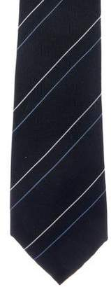 Celine Striped Silk Jacquard Tie