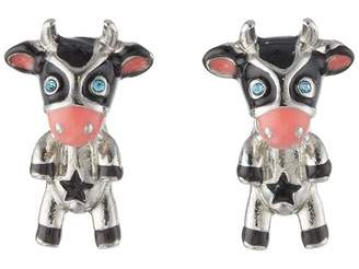 Betsey Johnson Cow Stud Earrings