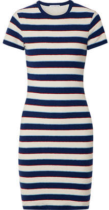 James Perse Striped Cotton-jersey T-shirt Dress - Navy