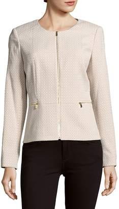 Calvin Klein Women's Roundneck Long-Sleeve Woven Jacket