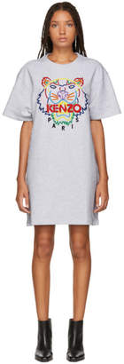 Kenzo Grey Tiger T-Shirt Dress