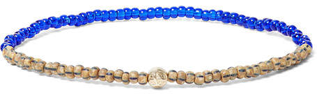 Luis Morais Glass, Hematite and Gold Bead Bracelet
