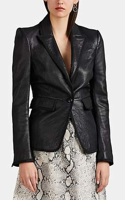 L'Agence Women's Paulie Leather Blazer Jacket - Black