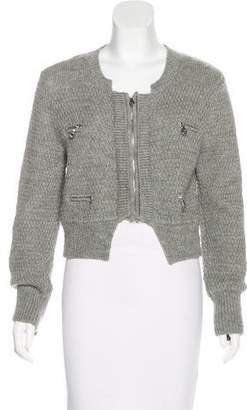 Chloé Wool Zip-Up Cardigan