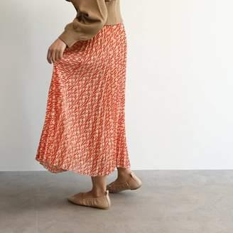 OZOC (オゾック) - オゾック OZOC [洗える]スカーフ柄プリーツスカート (ベージュ)