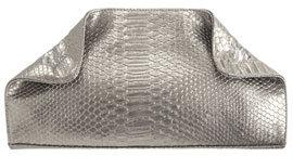 Textured Python Clutch