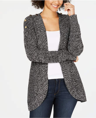 5a6006f236c Charter Club Petite Marled Open-Front Completer Cardigan