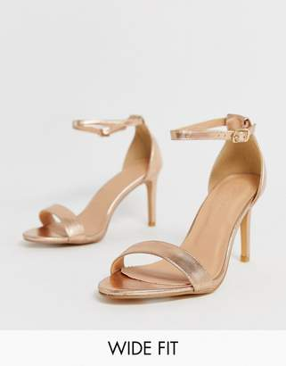 5ffc52c6383b Barely There Simply Be Extra Wide Fit Simply Be extra wide fit Morgan heeled  sandal in