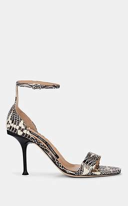 Sergio Rossi Women's Snakeskin-Stamped Leather Sandals