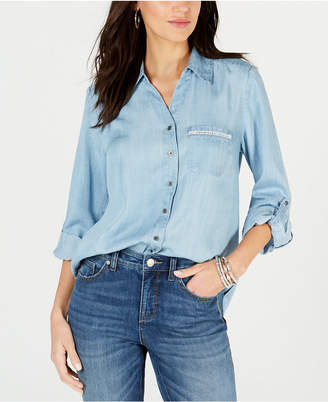 Style&Co. Style & Co Petite Chambray Shirt