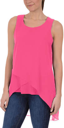 Asstd National Brand NY Collection High Low Layered Sleeveless Top