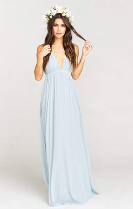 Show Me Your Mumu Ava Maxi Dress ~ Steel Blue Chiffon