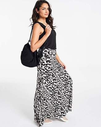 1f978cd9b34 Fashion World Leopard Print Stretch Jersey Maxi Skirt