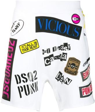 DSQUARED2 logo track shorts