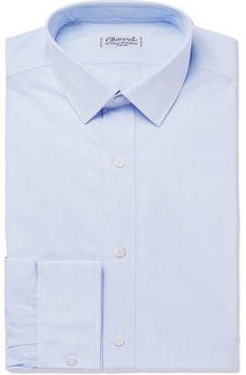 Charvet Blue Striped Cotton-Poplin Shirt