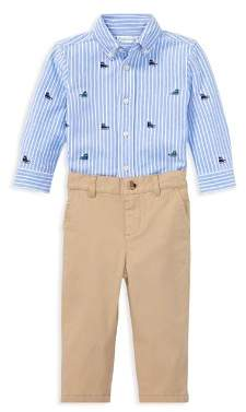 Polo Ralph Lauren Ralph Lauren Boys' Sneaker-Print Oxford Shirt & Chinos Set - Baby