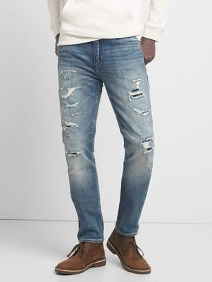 Gap Cone Denim Destructed Jeans in Skinny Fit with GapFlex