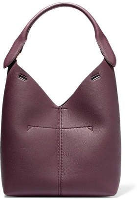 Anya Hindmarch Bucket Small Textured-leather Tote - Plum