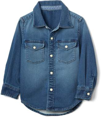 Gap Supersoft denim western shirt