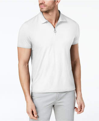 Alfani Men's Mesh-Front Zip Polo, Created for Macy's
