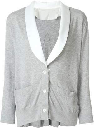 Sacai shawl lapel cardigan