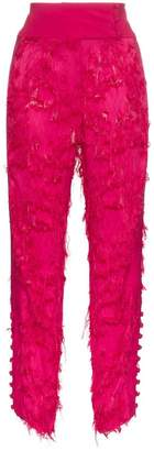 Cult Gaia high waist embroidered trousers