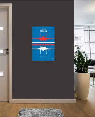 """iCanvas Top Gun Minimal Movie Poster"""" by Chungkong Gallery-Wrapped Canvas Print (26 x 18 x 0.75)"""