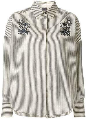 Lorena Antoniazzi striped shirt with sequin star appliqués