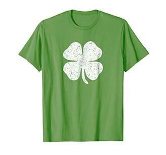 Distressed Four Leaf Clover Irish Ireland T Shirt Shamrock