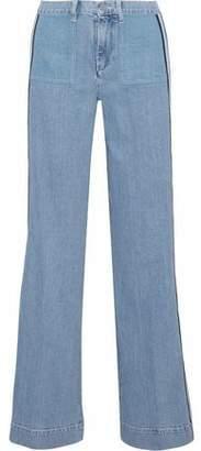 Victoria Beckham Victoria Striped Mid-Rise Wide-Leg Jeans