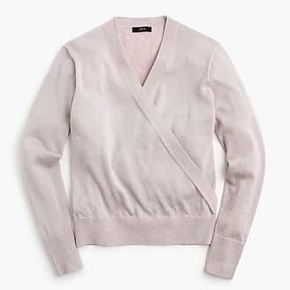 J.Crew Lurex® wrap sweater