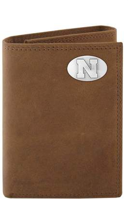 Zep-Pro Nebraska Cornhuskers Concho Crazy Horse Leather Trifold Wallet