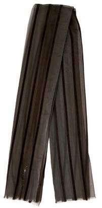 Giorgio Armani Striped Sheer Scarf