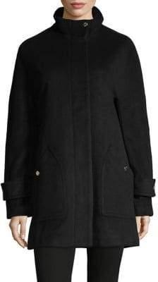 Anne Klein Stand Collar Coat