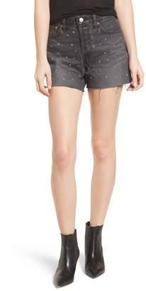Levi's Wedgie High Waist Cutoff Denim Shorts