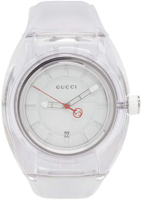 Gucci White Transparent G-Sync Watch