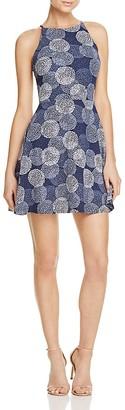 AQUA Printed High Neck Dress - 100% Exclusive $78 thestylecure.com