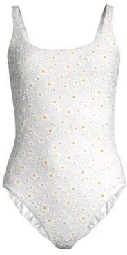 Tory Burch Daisy One-Piece Printed Swimsuit