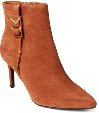 Calvin Klein Cognac Grace Pointed Toe Ankle Booties
