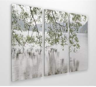 DAY Birger et Mikkelsen Red Barrel Studio 'Lake Crescent Rainy Day' Photographic Print Multi-Piece Image on Wrapped Canvas