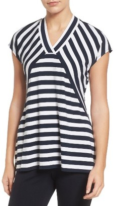 Women's Chaus High/low Stripe Top $64 thestylecure.com